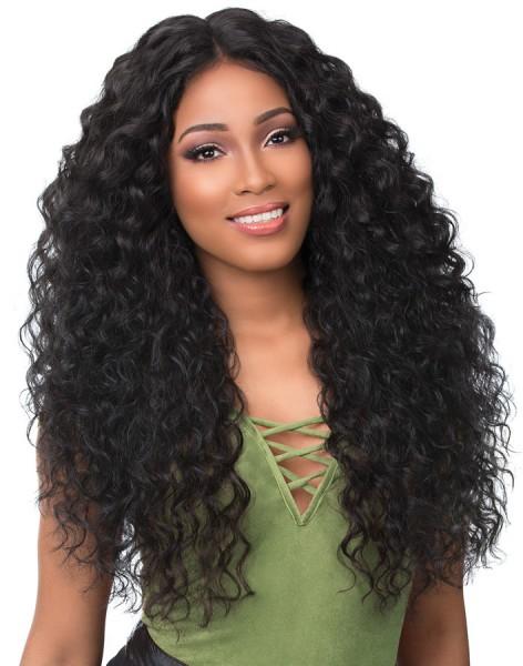 """Brasilianisches Haar """"Wellig"""" - natürliche Farbe - 100 Gramm Tresse"""