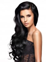 """Brasilianisches Haar """"Körper Welle"""" - natürliche Farbe - 100 Gramm Tresse 20 cm / 8"""""""